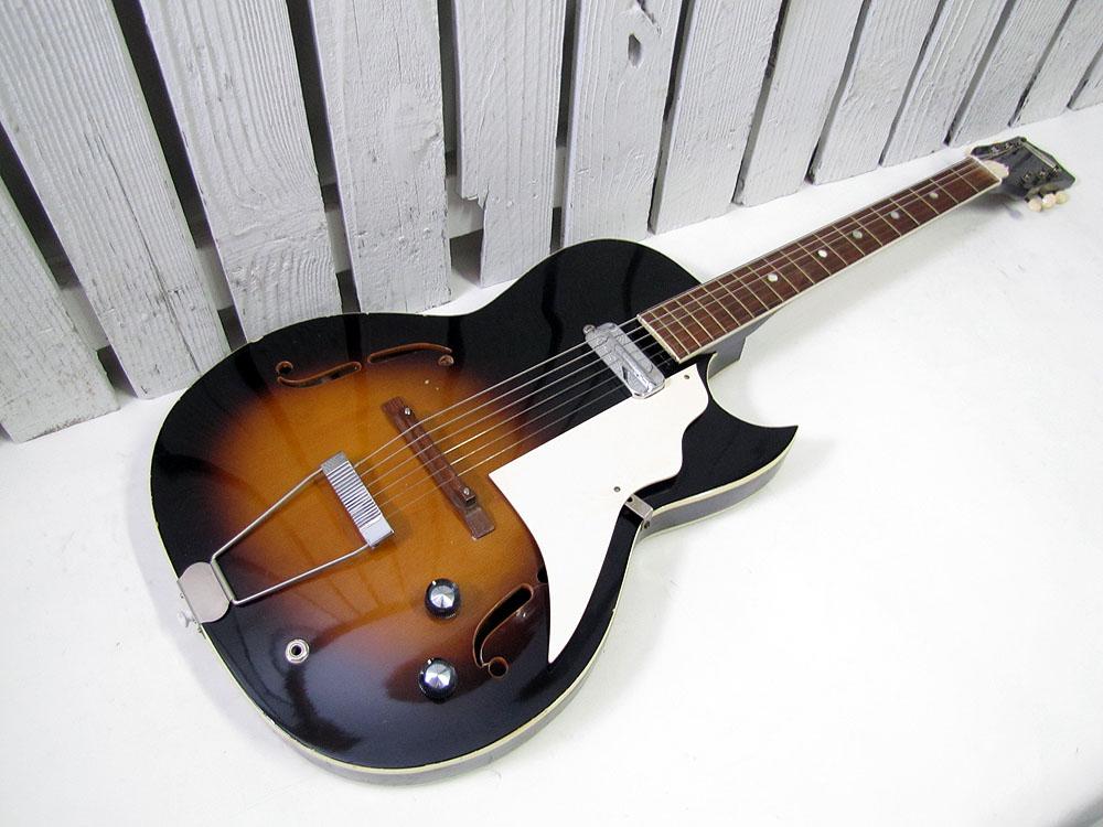 vintage 1960 39 s kay penncrest speed demon hollow body electric guitar ebay. Black Bedroom Furniture Sets. Home Design Ideas