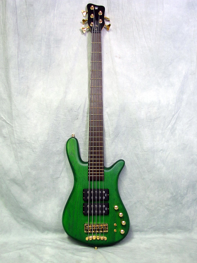 mint used warwick streamer double buck 5 string bass green erb 4 6 german ebay. Black Bedroom Furniture Sets. Home Design Ideas