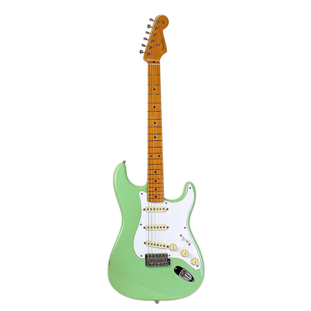 2009 fender american vintage reissue 39 57 stratocaster strat surf green guitar. Black Bedroom Furniture Sets. Home Design Ideas